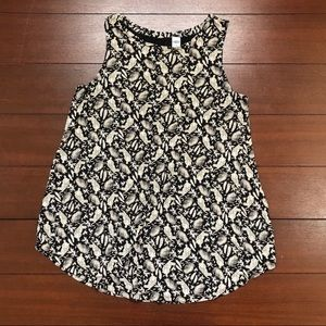 Old Navy Size Small Luxe Tiger Leaf Tank